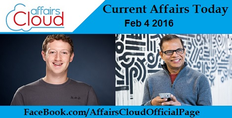 Current Affairs Today 4 February 2016