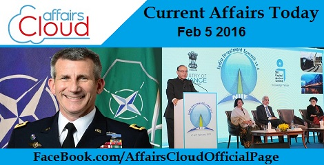 Current Affairs Today 5 February 2016