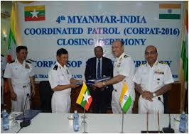 Indo-Myanmar Coordinated Patrol (IMCOR) and Signing of Standard Operating Procedure (SOP)