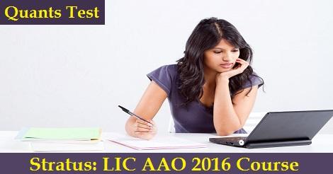 LIC AAO 2016 - Quants test