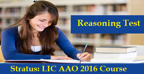 LIC AAO 2016 - Reasoning Test