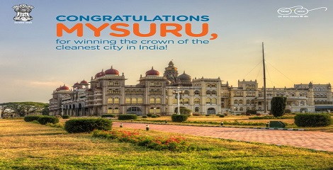 Mysuru sat at top in Swachh Survekshan 2016