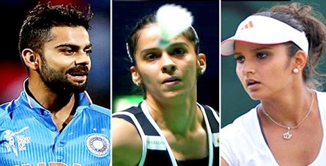 Sports stars Sania, Virat and Saina leading among 56 Indians in Forbes list