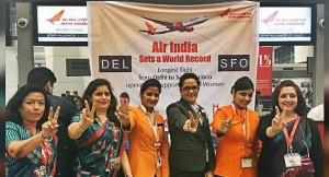 Air India Runs the first Longest all Women Flight