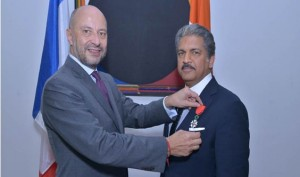 Anand Mahindra conferred with France