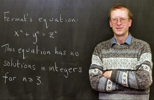 Andrew Wiles awarded with the Nobel prize of Mathematics