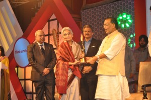 Dr.Amrita Patel awarded with the Mahindra Lifetime Achievement Award