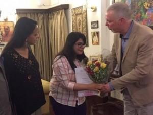 Geetakshi Arora conferred with Noor Inayat Khan prize