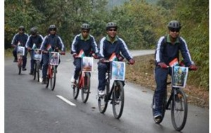 Cycling event of Indian Army with theme Cycle to Recycle flagged off