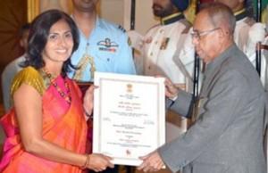 President Pranab Mukherjee presented 2015 Nari Shakti awards