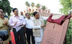 Dr. Mahesh Sharma Unveils Gold Finial at Humayun's Tomb