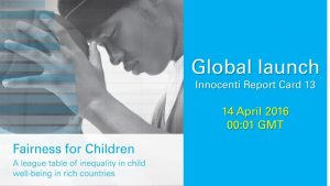 Fairness for Children report released by UNICEF