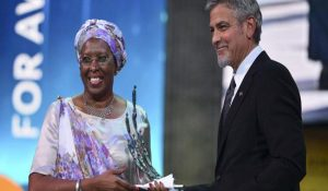 Hollywood Actor George Clooney awards new humanitarian prize