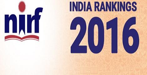 India Rankings 2016 by NIRF
