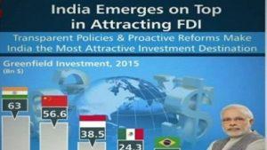 India emerged as top FDI