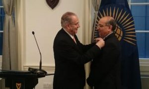 Indian Diplomat honoured by Cyprus