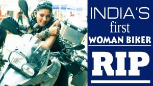 India's first woman biker