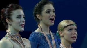 Medvedeva wins world title with record free skate score