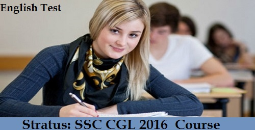 SSC CGL 2016 Course English Test