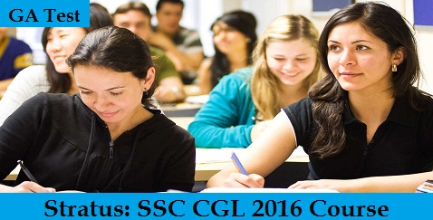 SSC CGL 2016 Course GA Test