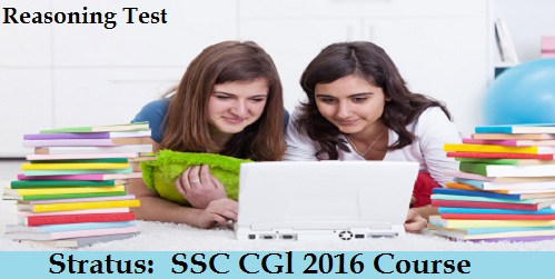 SSC CGl 2016 Reasoning Test