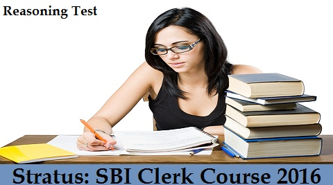 Stratus- SBI Clerk Course 2016 - Reasoning Test