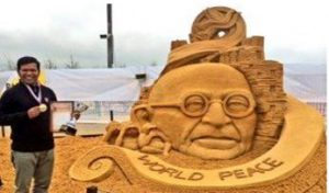 Sudarsan Pattnaik wins gold in sand art contest in Russia