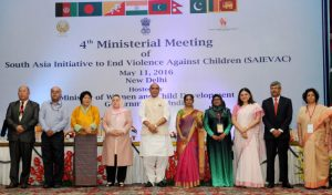 4th Ministerial meeting of SAIEVAC held in New Delhi(9 to 11)