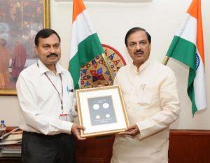 Mahesh Sharma Releases Commemorative Coin on Maharana Pratap