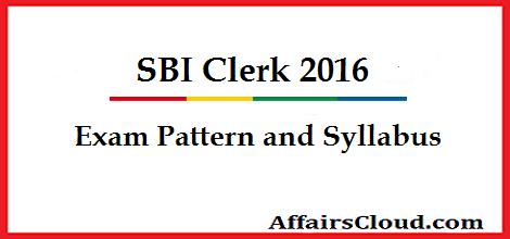 SBI Clerk Exam pattern and Syllabus