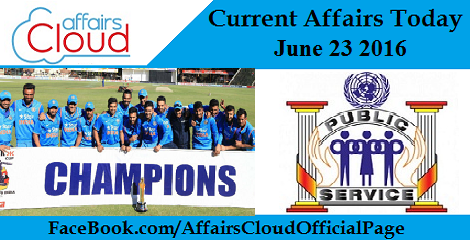 Current Affairs Today-23-06-16