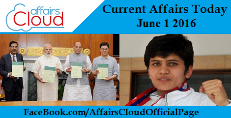 Current Affairs Today-june-1-2016
