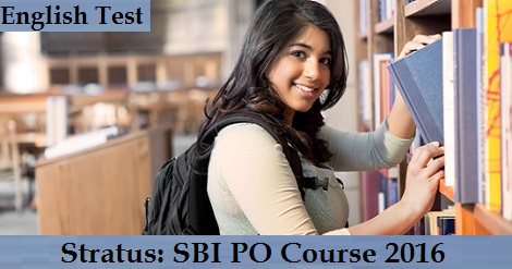 SBI PO Course 2016 - English Test