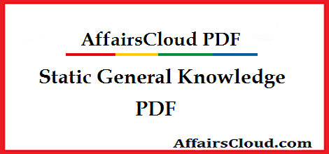 Static General Knowledge GK PDF