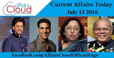 Current Affairs Today-july-13-2016