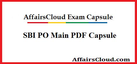 SBI PO PDF Capsule
