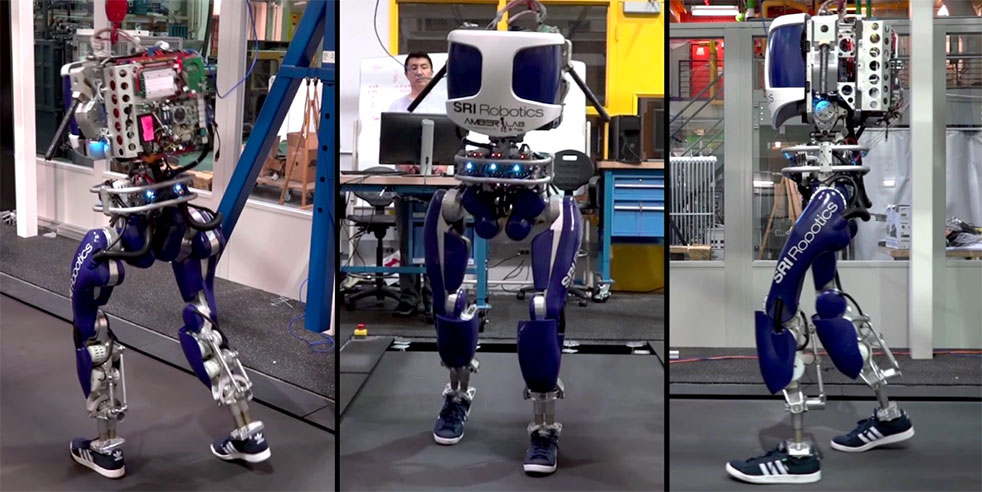 Scientists developed a new robot - with human sized feet