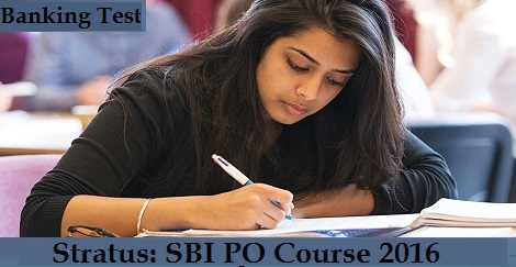 Stratus- SBI PO Course 2016 - Banking Test