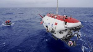 China's unmanned submersible sets new national record