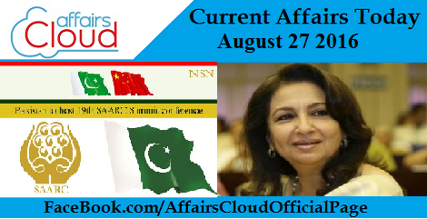 Current Affairs Today – August 27 2016