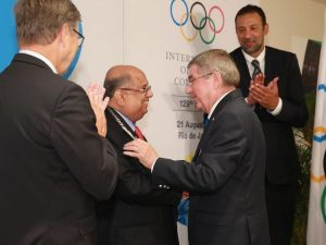 IOA President N. Ramachandran was awarded with the Olympic Order