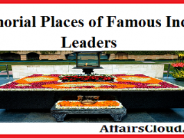 Memorial Places of Indian Leaders