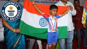 Six-year-old Indian boy enter Guinness World Record for farthest limbo-skating under cars