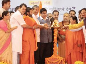 Uma Bharti launches various projects under Namami Gange