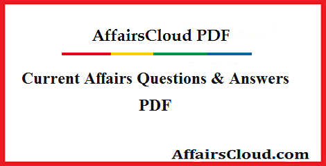 Current Affairs Quiz PDF Download