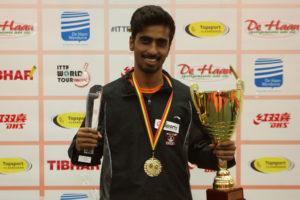 Sathiyan Gnanasekaran won Belgium Open