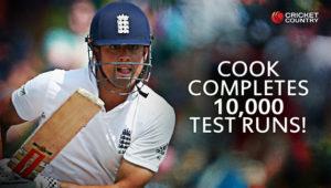 Alastir Cook became first to score 10000 runs as an opening batsman