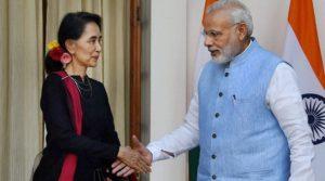 Aung San Suu Kyi in Delhi