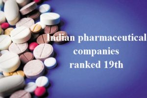 Indian pharmaceutical companies ranked 19th