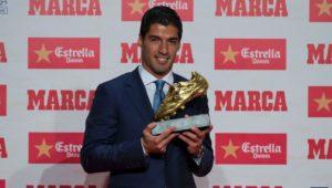 Luis Suarez receives 2nd European Golden Shoe of his career